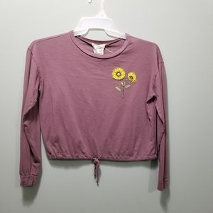 Women's Small soft and comfy l/s crop shirt